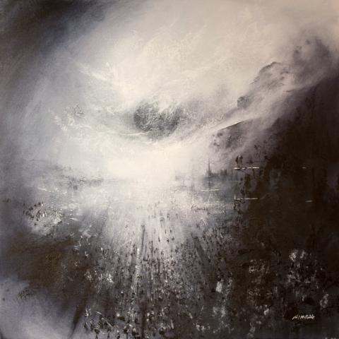 Neil McBride Painting dark-planet