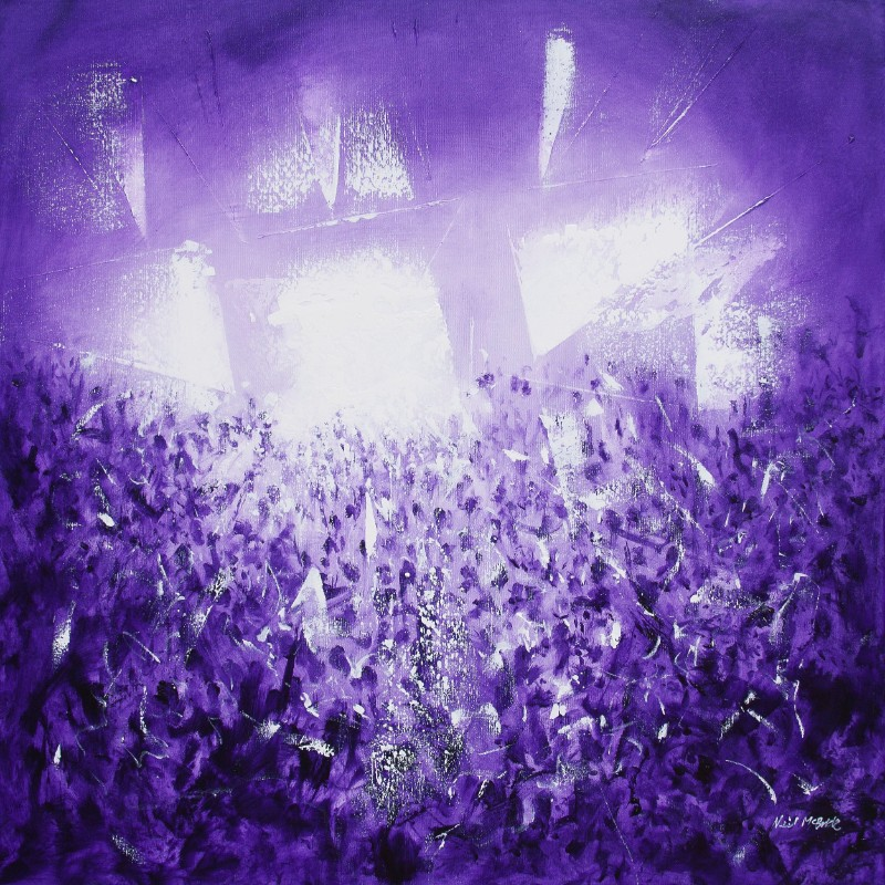 Neil McBride purple rave Painting