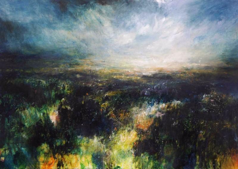 Jim wright sparkling-light-on-the-moors Painting NYOS